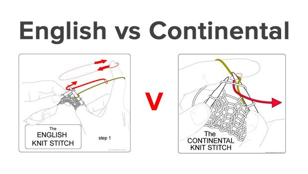 континентальный и английский стили вязания